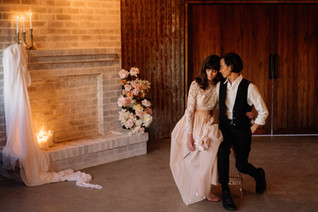 Kisses Infront of Fireplace .jpg