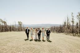 Bridal Party on the Farm