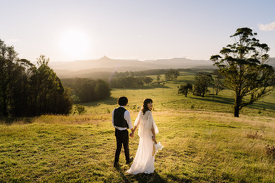 Couple Walking in Golden Light