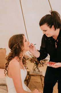 Make Up Artist and Bride