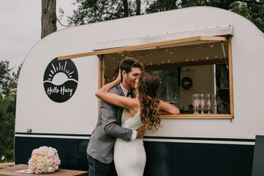 Kissing by the Caravan Bar