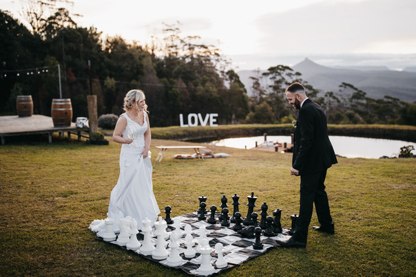 Giant Chess at Wedding