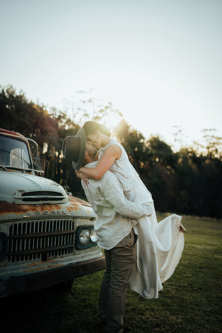 Couple with Austin Truck