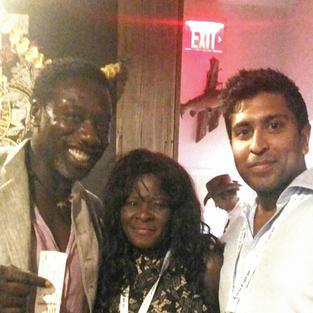 with actor/producer Hakeem Kae-Kazim & Ajay Nayyar