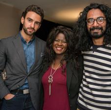 with actors Giancarlo Murano & Jimmy Limb