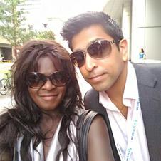 with producer Ajay Nayyar