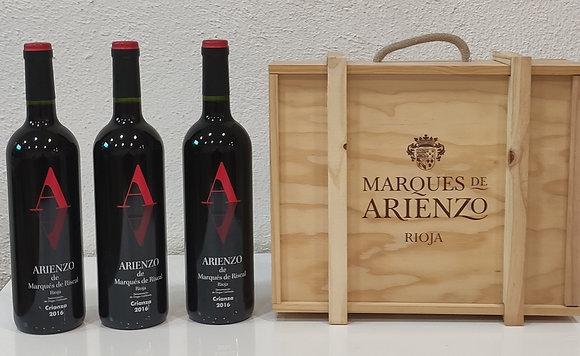 Estuche Madera Arrienzo 3 botellas