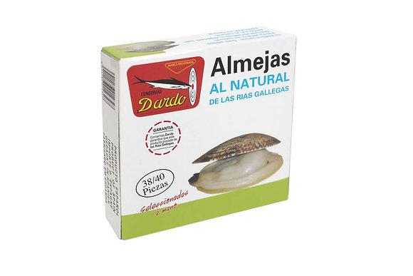 DARDO ALMEJAS AL NATURAL 38-40 piezas