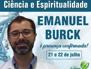 Emanuel Burck é presença confirmada no Diálogos sobre Ciência e Espiritualidade