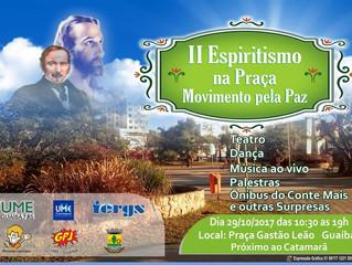 II Espiritismo na Praça - Movimento pela Paz, em Guaíba/RS.