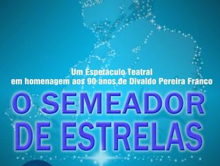 """Espetáculo de teatro """"O Semeador de Estrelas"""", em Capão da Canoa."""
