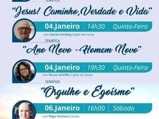 Confira as palestras de janeiro da S.E. Allan Kardec, em Capão da Canoa.