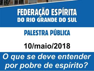 Participe da palestra pública na FERGS. No dia 10 de maio, às 15h.