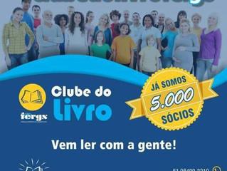 Clube do Livro FERGS ultrapassa os 05 mil sócios.