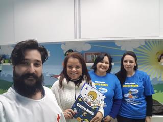 Cruz Vermelha e Brasil Sem Fronteiras visitam Projeto Conte Mais