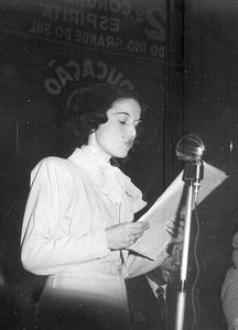 A jovem Cecília Rocha no 2° Congresso Espírita do RS