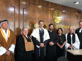 FERGS participa de gravação na TV Pampa sobre respeito entre as religiões
