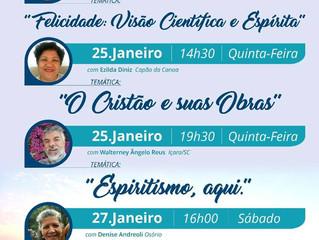 Confira as palestras desta semana na Sociedade Espírita Allan Kardec, de Capão da Canoa.