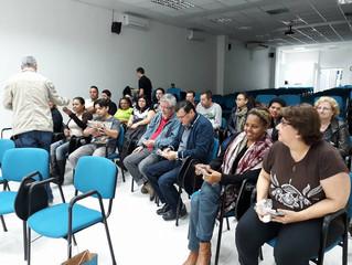 Dirigentes da Federação Espírita do RS promovem treinamento com seus colaboradores.