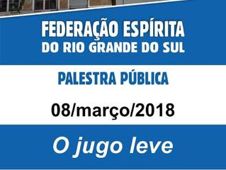 08 de março é dia de palestra pública na FERGS