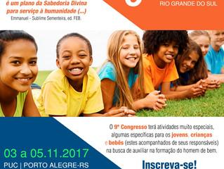 9º Congresso Espírita do RS - Atividades para jovens, crianças e bebês.
