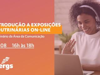 """Acom promove webinário """"Introdução a Exposições Doutrinárias On-line"""""""