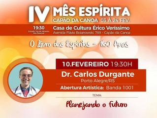 Palestra em Capão da Canoa, com Carlos Durgante.