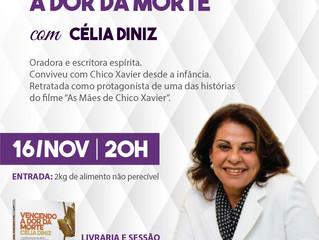 """""""Vencendo a Dor da Morte"""" será o tema das palestras de Célia Diniz, em Alvorada e Gravataí"""