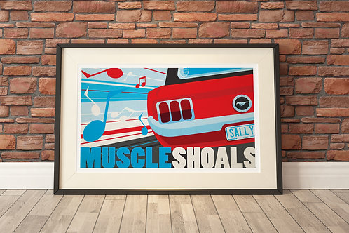 "22""x17"" Limited Edition Print - Muscle Shoals"