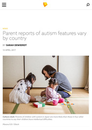 Parent reports of autism features vary b