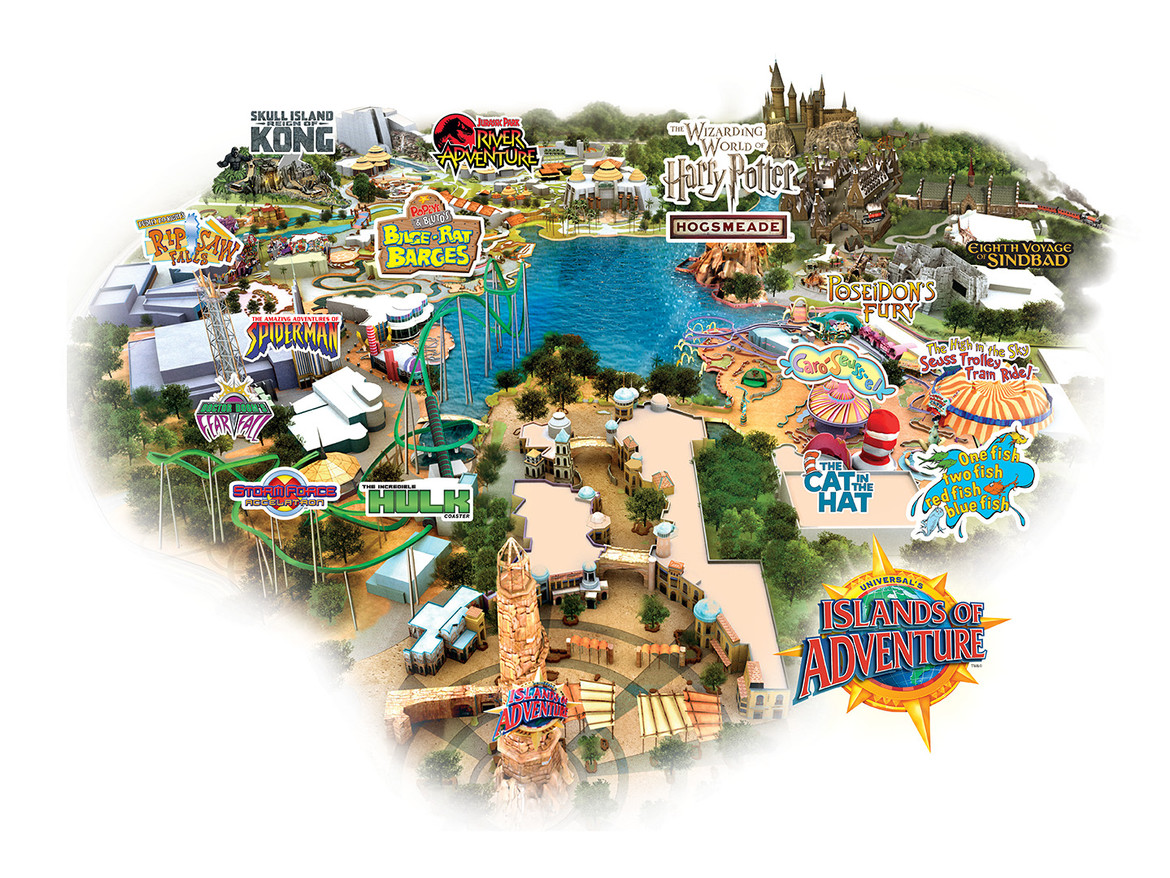 Universal's Islands of Adventure Map