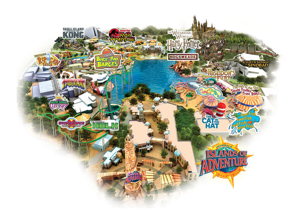 Universal's Islands of Adventure Map