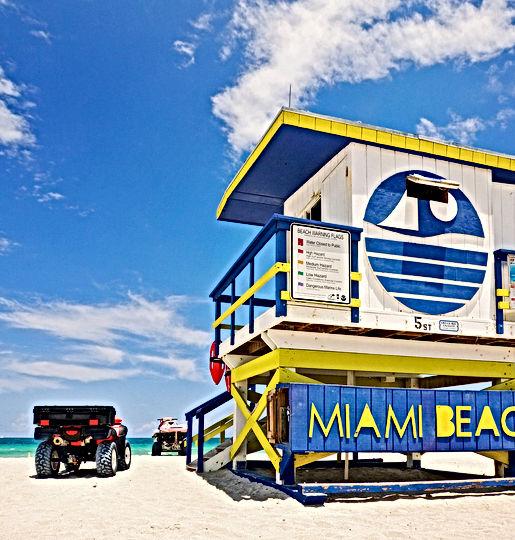Lifeguad tower on Miami Beach