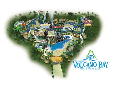 Universal's Volcano Bay Map.