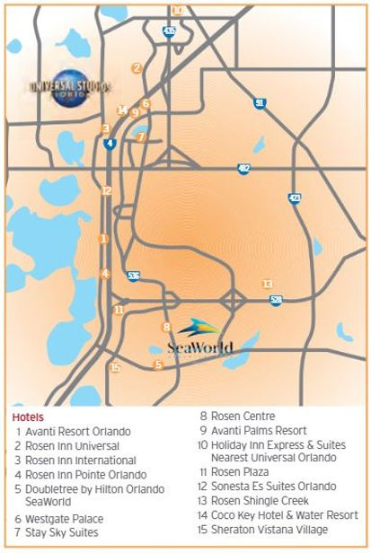 International Drive Orlando Map