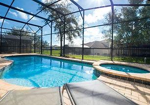 Private pool in Orlando home
