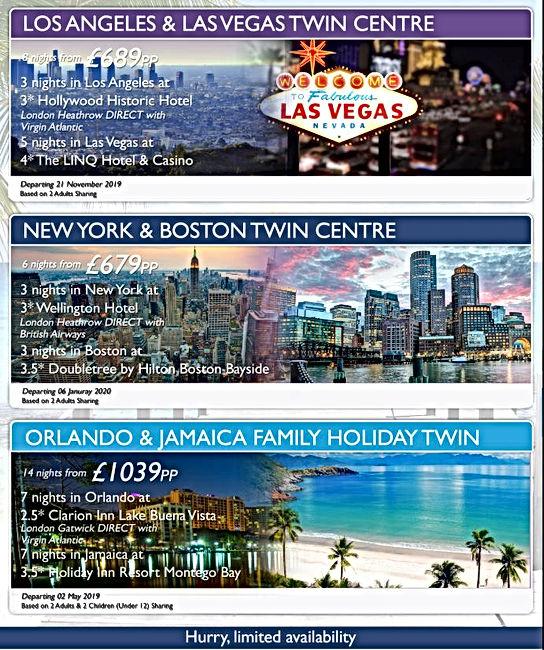 USA Holiday Offers