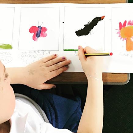 Concertina nature sketchbooking at Westonbirt School