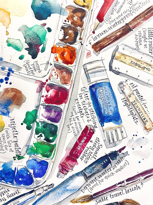 Sketchbook Club 1: An Introduction to Visual Journalling