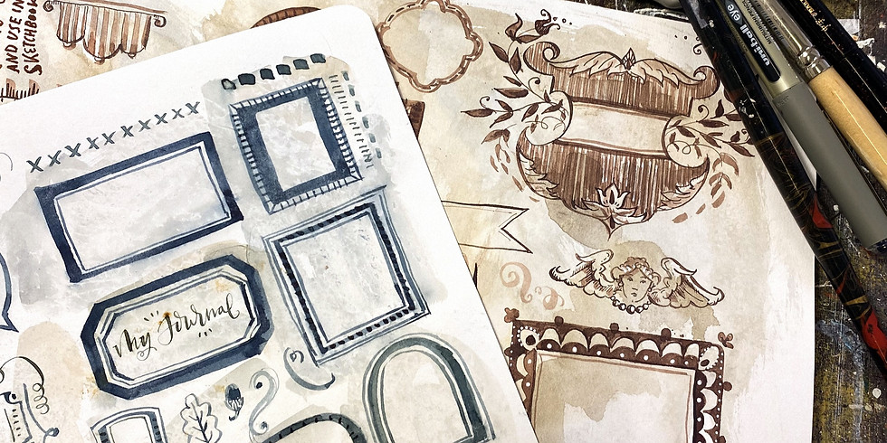 Build a Book Part 3:Vintage style Illustrated Labels and Tags