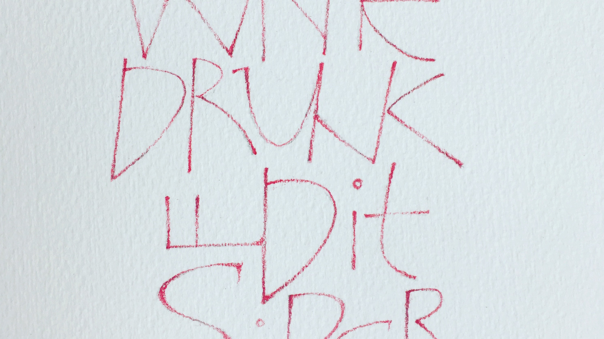 Drawn Lettering with a Coloured Pencil