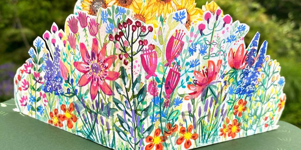 Pop Up Secret Gardens for Cards and Sketchbooks