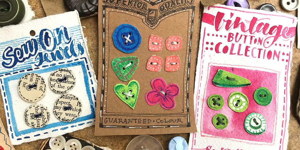 Vintage Button Cards & Books