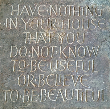 Quotation Stone: Hand lettered and hand carved