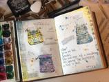 Tiny ypewriters sketchbook spread