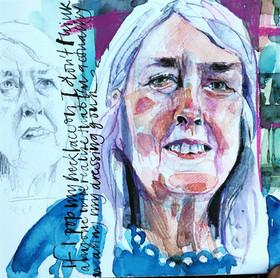 Sky Arts Portrait Artist of the Week: Portrait of Mary Beard