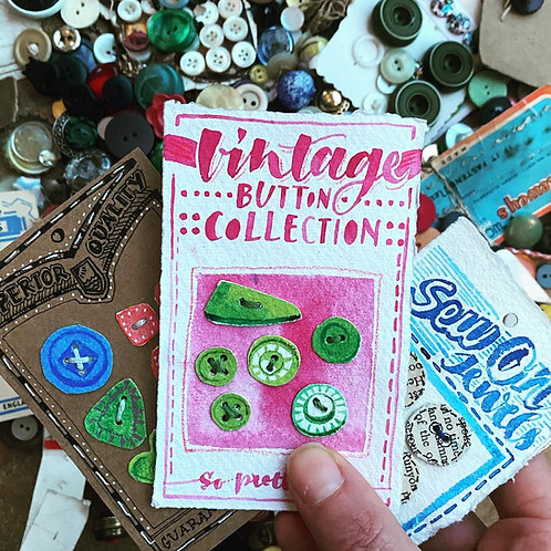 Vintage Button Books & Cards