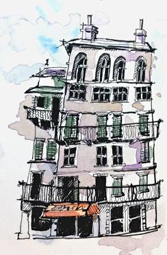 Wonky House Illustration