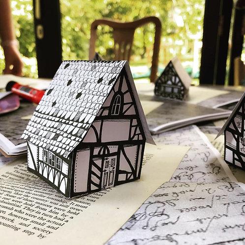 Illustrated Pop Up Cottage Cards
