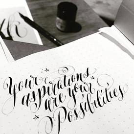 Dip Nib Modern Calligraphy